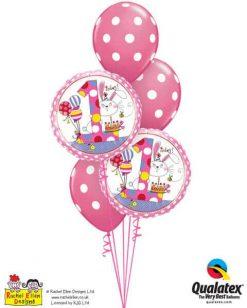 Bukiet 189 Rachel Ellen - Age 1 Bunny Polka Dots Qualatex #22615-2 54138-3