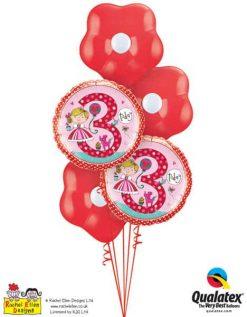 Bukiet 350 Rachel Ellen- Age 3 Princess Polka Dots #23475-2 87171-3