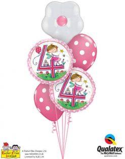 Bukiet 352 Rachel Ellen- Age 4 Fairy Polka Dots #23913-2 54138-2 87171