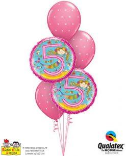 Bukiet 353 Rachel Ellen- Age 5 Mermaid Polka Dots #24146-2 18464-3