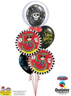 Bukiet 91 Deco Bubble Pirate Skull & Cross Bones Qualatex #68825 17939-1 17928-2 24160-2