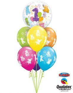 Bukiet 85 Age 1 Teddy Bears Qualatex #36368 41095-6