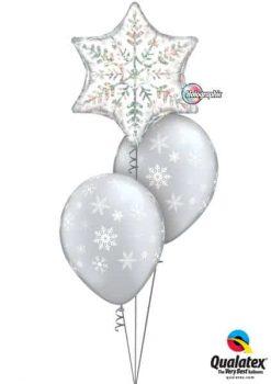 Bukiet 97 Dazzling Snowflake Qualatex #20263 40800-2