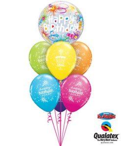 Bukiet 48 Birthday Lit Candles Qualatex #16658 18374-6