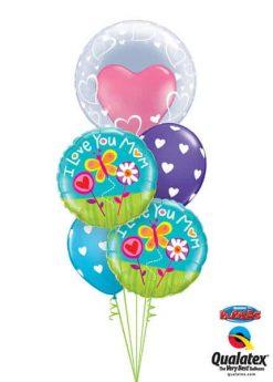 Bukiet 331 Deco Bubble - Stylish Hearts Qualatex #29505 11842-2 11123-2