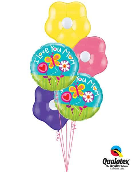 Bukiet 565 Mother's Day GEO Flowers Qualatex #11842-2 87171-3 43607-3