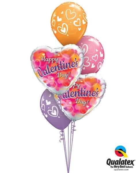 Bukiet 675 Happy Valentine's Day Hearts #11257-2 40205-3