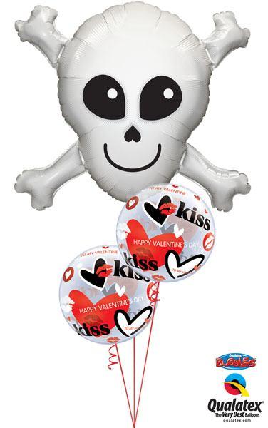 Bukiet 134 Happy Skull Qualatex #17623 27539-2