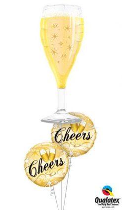 Bukiet 161 Bubbly Wine Glass Qualatex #16269 19031-2