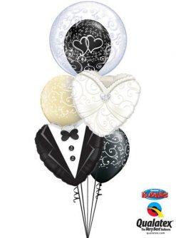 Bukiet 154 Deco Bubble Fancy Filigree Qualatex #13693 15784 15791 22396