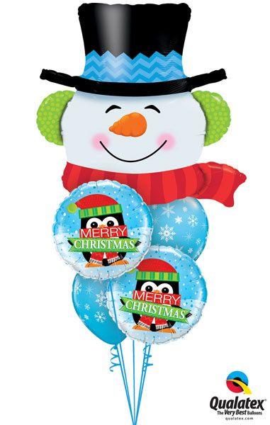 Bukiet 104 Smilin' Snowman Qualatex #19040 18973-2 33531-2