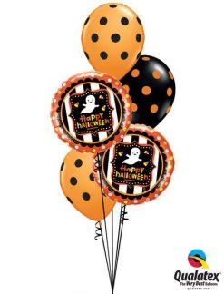 Bukiet 365 Halloween Ghost & Candy Corn Qualatex #43467-2 23017-3
