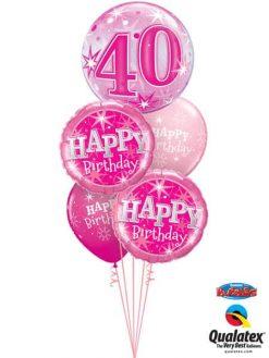 Bukiet 338 40 Pink Starburst Sparkle#43125 37913-2 25588-2