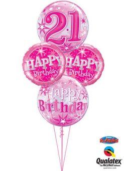 Bukiet 337 Birthay Pink Starburst Sparkle#43121 43123 37913-2