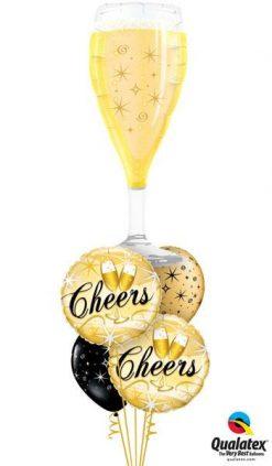 Bukiet 111 Bubbly Wine Glass Qualatex #16269 19031-2 12578-2