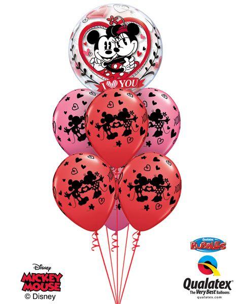 Bukiet 142 Disney Mickey & Minnie I Love You Qualatex #21892 23187-6
