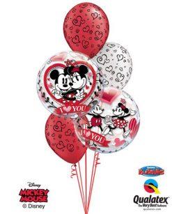 Bukiet 138 Disney Mickey & Minnie I Love You Qualatex #21892-2 90570-3