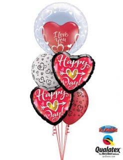 Bukiet 676 Happy Heart Day #29505 29005 21630 76877