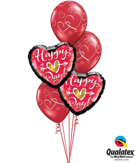 Bukiet 684 Red Valentine's Hearts #21630-2 40311-3