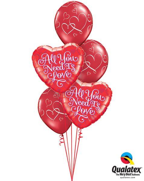 Bukiet 125 All You Need Is Love Qualatex #21827-2 40862-3