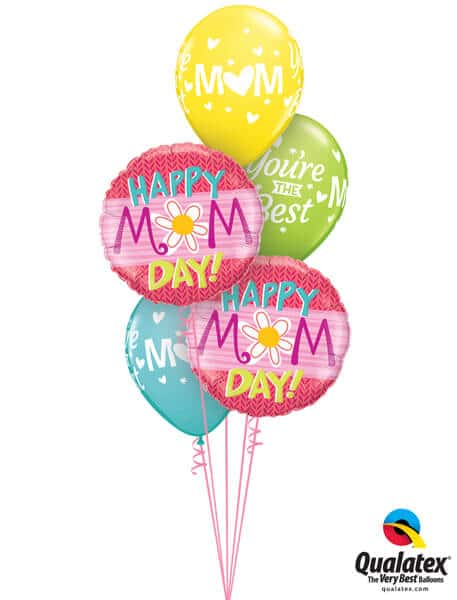 Bukiet 590 Love and Flowers Mother's Day Qualatex #47386-2 24366-3