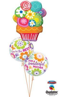 Bukiet 598 Mother's Day Floral Bubbles Qualatex #47565 11538-2
