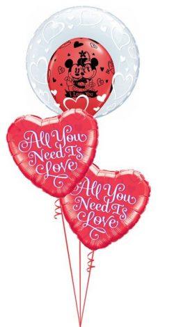 Bukiet 511 Deco Bubble - Stylish Hearts Qualatex #29505 21827-2