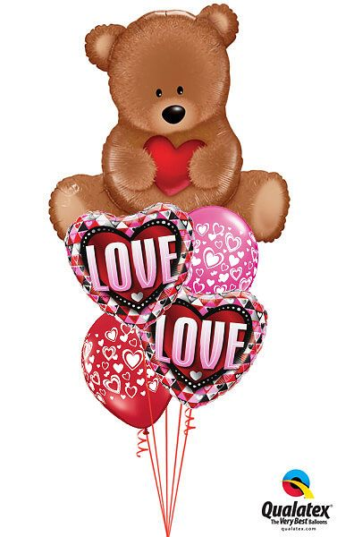 Bukiet 505 Teddy Bear Love Qualatex #16453 46073-2 40863-2