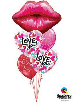 Bukiet 493 Big red Kissey Lips Qualatex #16451 46070-2 90570-2