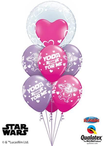 Bukiet 507 Deco Bubble - Stylish Hearts Qualatex #29505 46065-6