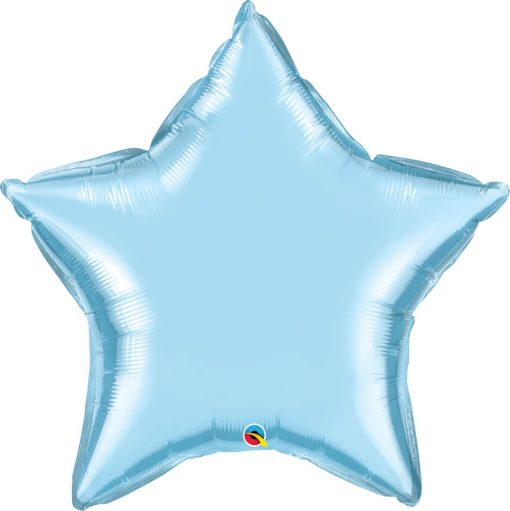 36″ / 91cm Solid Colour Star Pearl Light Blue Qualatex #21148