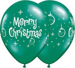 "11"" / 28cm 6szt Merry Christmas Ornaments Qualatex #21604"
