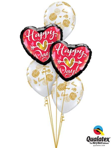 Bukiet 693 Golden Hearts & Roses Valentine #21630-2 55248-3
