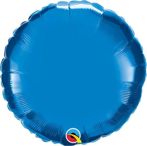 "18"" / 46cm Solid Colour Round Sapphire Blue Qualatex#22632"