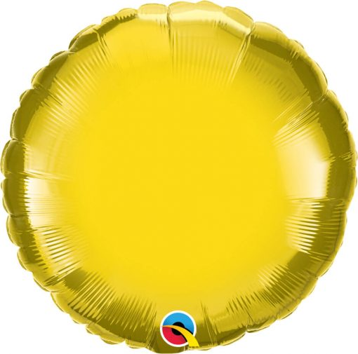 18″ / 46cm Solid Colour Round Citrine Yellow Qualatex #22637