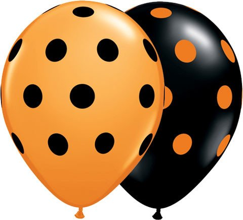 "11"" / 28cm Big Polka Dots Qualatex #23017-1"