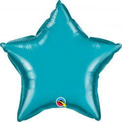 20″ / 51cm Solid Colour Star Turquoise Qualatex #24819