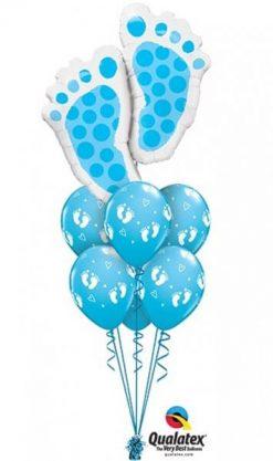 Bukiet 415 Baby Feet Blue Qualatex #25851 45652-6