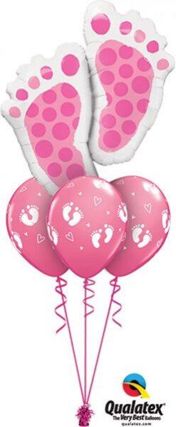 Bukiet 416 Baby Feet Pink Qualatex #25853 45651-3