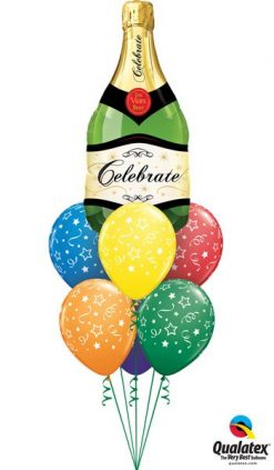 Bukiet 629 Celebratory Bubbly Bottle Qualatex #16122 46110-6
