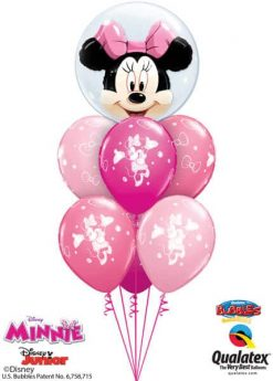 Bukiet 604 Disney Minnie Mouse Pink Bubble Bouquet Qualatex #27568 18685-6