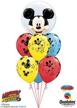 Bukiet 605 Disney Mickey Mouse Double Bubble Qualatex #27569 18688-6