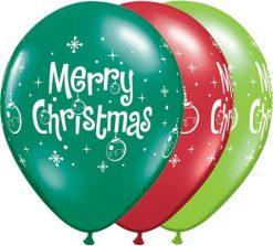 "11"" / 28cm Merry Christmas Ornaments Qualatex #27712-1"