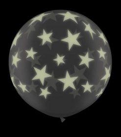 3' / 91cm Glow Star-A-Round Diamond Clear Qualatex #28154-1