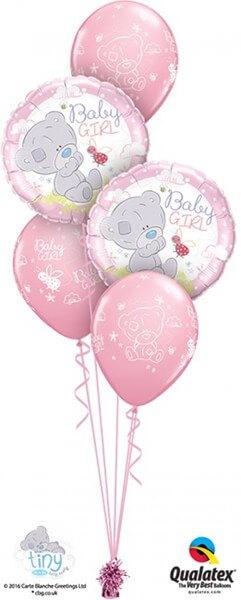 Bukiet 417 Tiny Tatty Teddy Baby Girl Qualatex #28170-2 45369-3