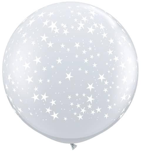 3' / 91cm Stars-A-Round Diamond Clear Qualatex #29264-1