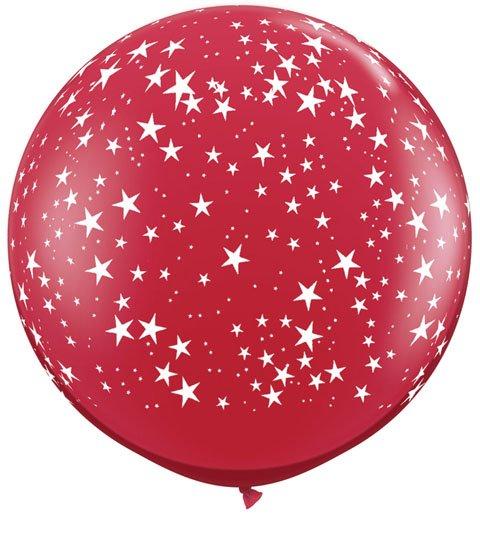 3' / 91cm Star-A-Round Ruby Red Qualatex #29266-1