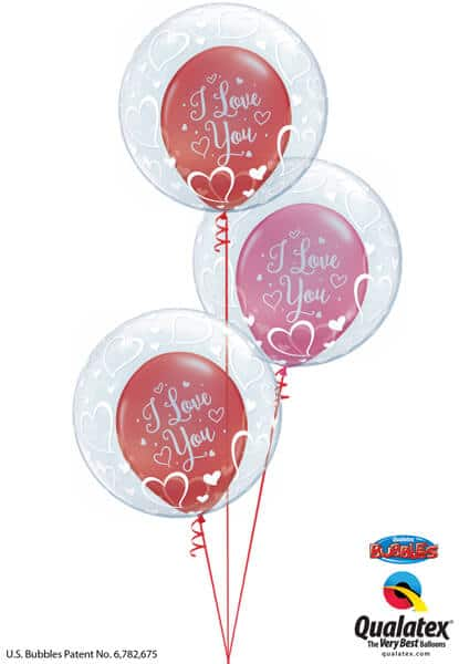"Bukiet 694 ""I Love You"" Valentine Bubbles #29505-3 55246-3"