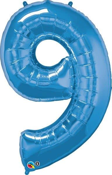 "34"" / 86cm Number Nine Sapphire Blue Qualatex #30547"