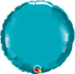 18″ / 46cm Solid Colour Round Turquoise Qualatex #30749